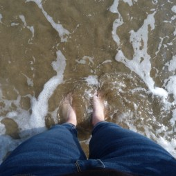 Dunkin' my toes in the Mediterranean