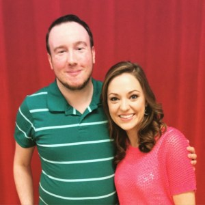 Alex with Laura Osnes in May 2015.