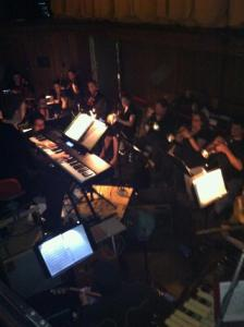 Alex leading the orchestra of Jesus Christ Superstar, March 2013. Photo Courtesy of Elana Lorance.
