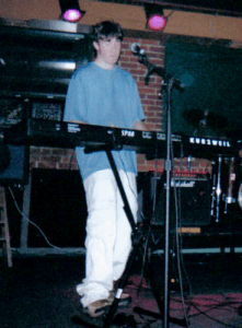 Alex on the Kurzweil SP88--probably the first show with it at The Call in August 2004.
