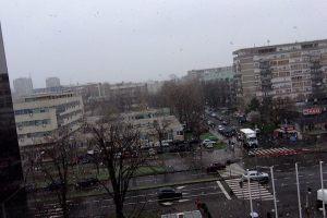 Alex Trenoweth likes snow in Belgrade