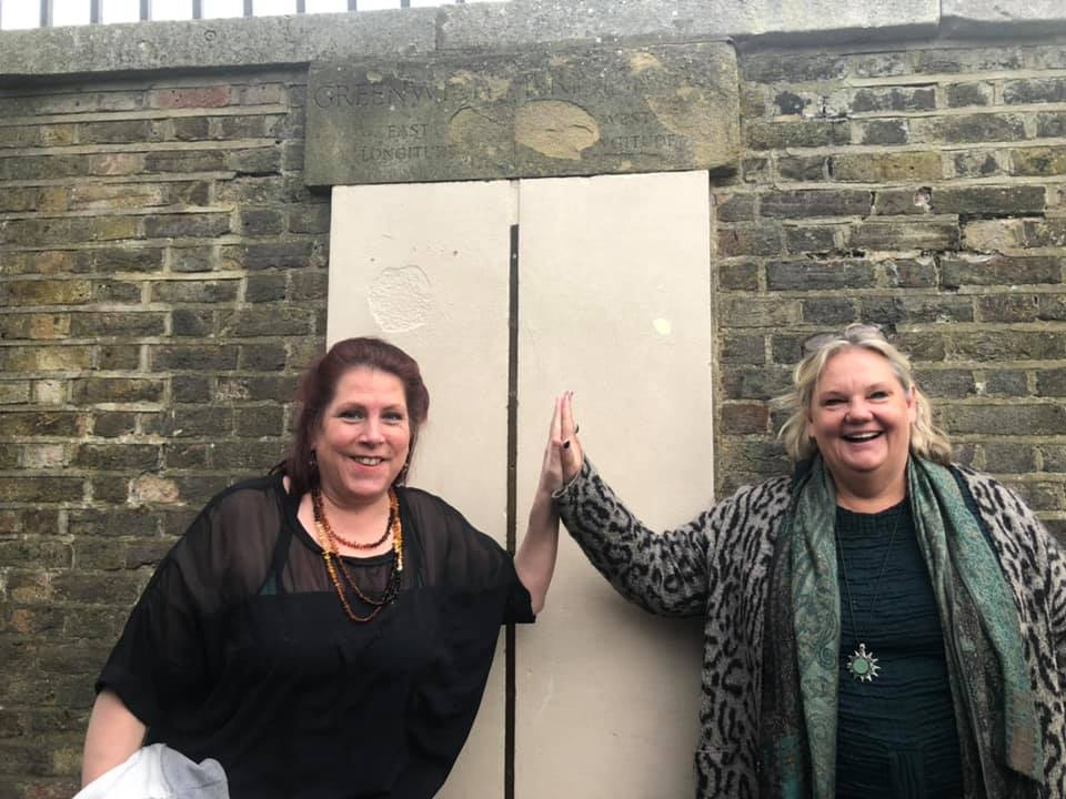 Agents 12 and 144 at Greenwich Meridian line, Lunar progressions