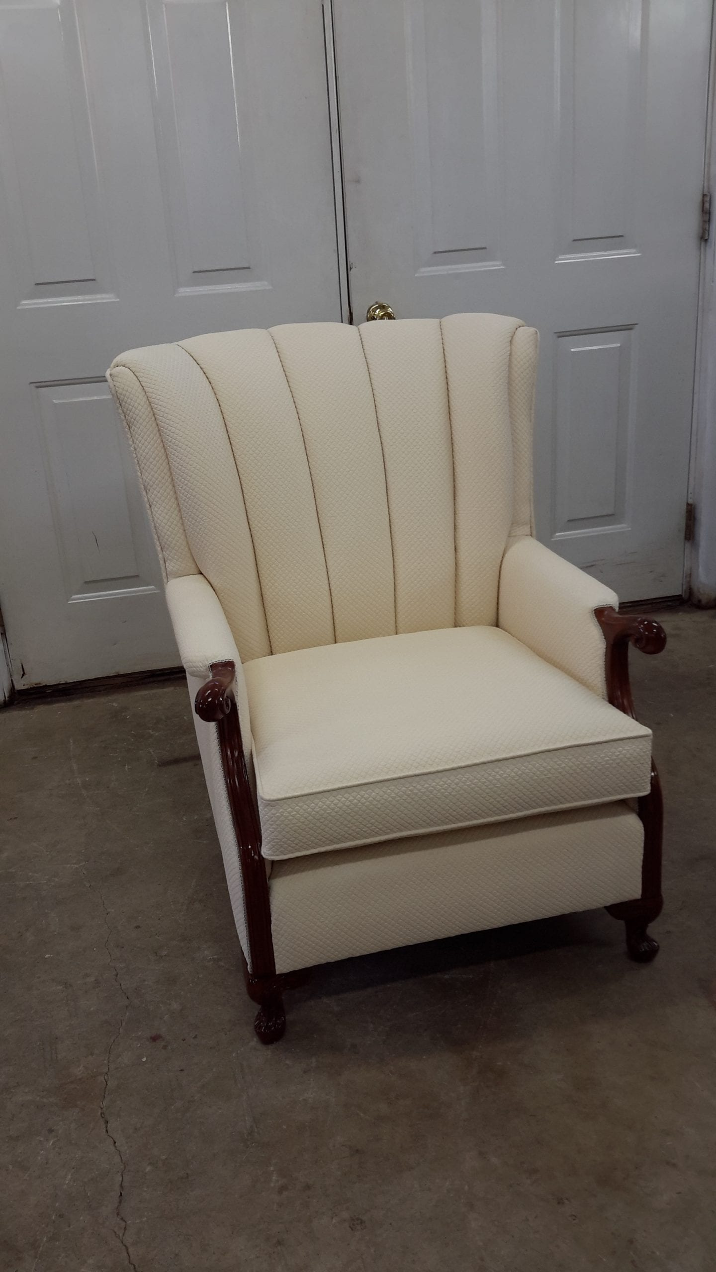antique white chairs kitchen chair seat covers channel back upholstery – restoration work shop quality ...