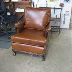 Antique Leather Chair Repair Patio Leg Caps Lowes Club Restoration Upholstery Shop Quality