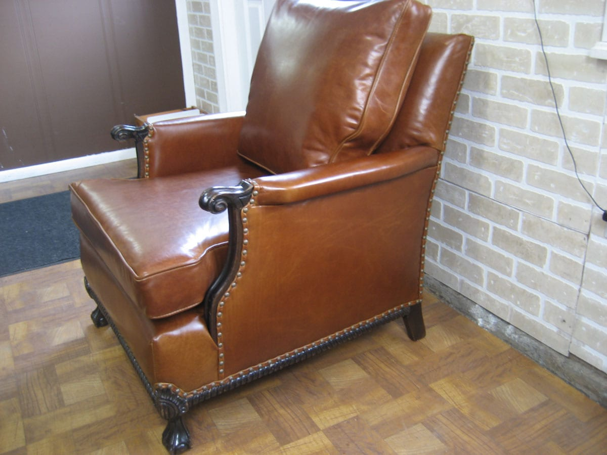 antique leather chair repair nichols and stone value club restoration upholstery shop quality