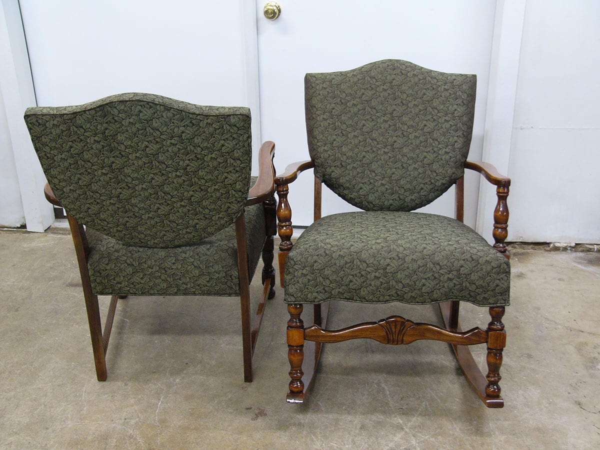 Chair Restoration Two Colonial Style Antique Chairs Restoration Upholstery