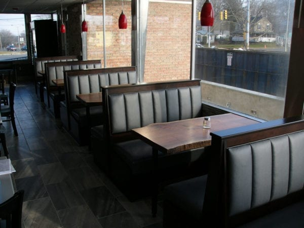 A Custom Round Booth His Interior  Upholstery Shop