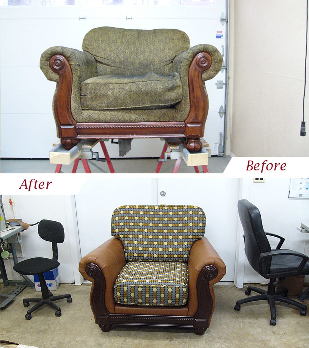 Chair Restoration Living Room Chair Restoration With Customized Upholstery