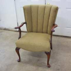 Portfolio Chair And Ottoman Folding Rental Columbus Ohio A Channel Back Complete Re Upholstery