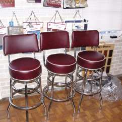 Restaurant Chair Repair Wooden Circle With Cushion Bar Stools Reupholstery And - Upholstery Shop Quality & Restoration