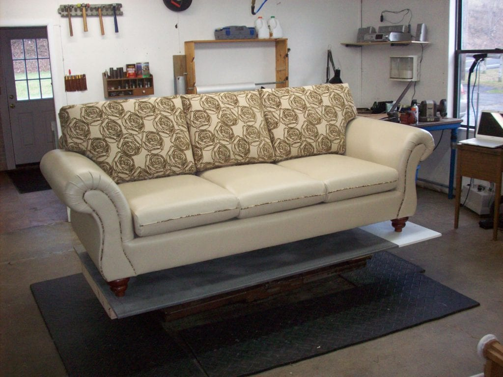 mixing leather sofa fabric chairs reclining and loveseat covers living room mix upholstery design