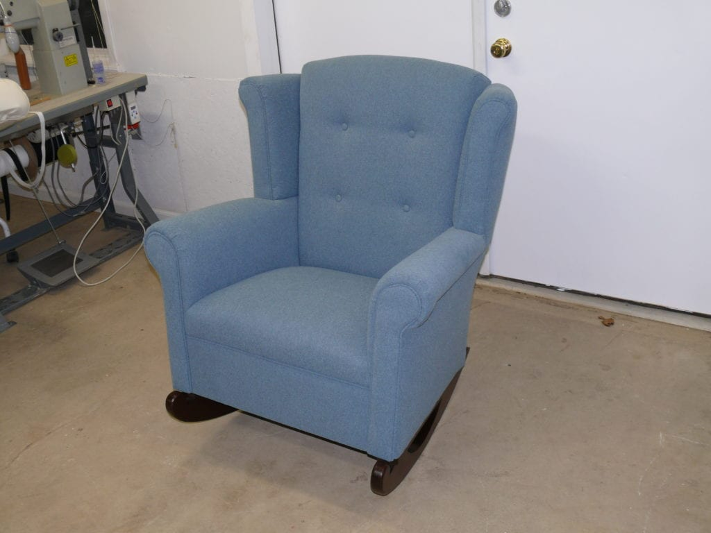 Antique Wingback Glider Chair Upholstery Shop Quality