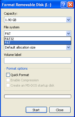 Format Removable Disk FAT