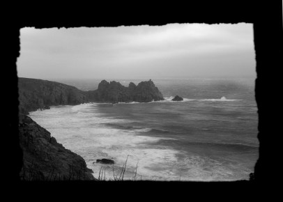 Logan Rock cornwall kernow photo photography landscape seacsape coast waves sea rocks cliffs Porthcurno