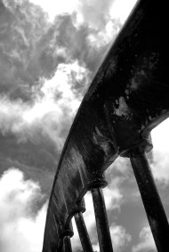 Redruth head gear wheel cornish mining mines cornwall kernow landscape sky clouds black white