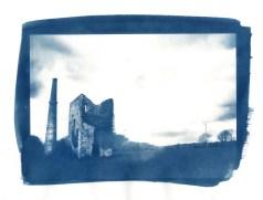 Nancegollen (cyanotype print)