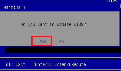 BIOS frissítés