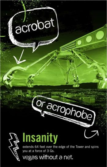 insanity stratosphere thrill rides copywriting
