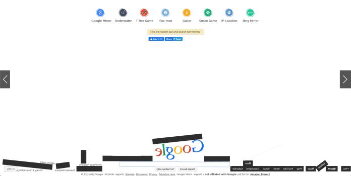 Easter Egg Google gravity