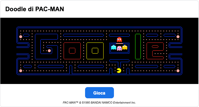 Easter Egg Google Bandai Namco Pacman