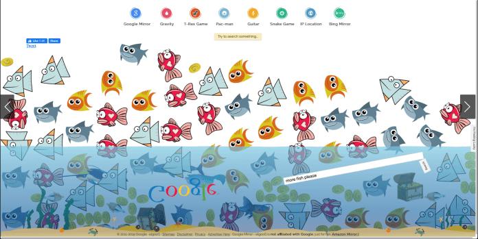 Easter Egg Google More fish please