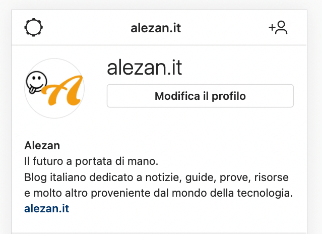 Instagram dal computer - Profilo Instagram - Alezan.it