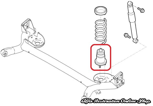 Fiat 500/Panda Rear Suspension Bump Stop Set, Alfa