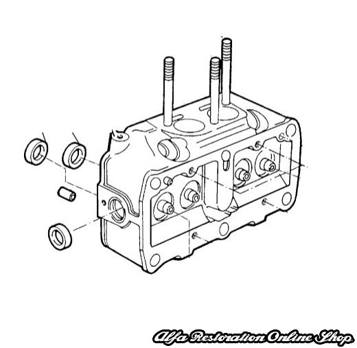 Alfa 33 Cylinder Head (1988-1990 models for 1.2 & 1.3