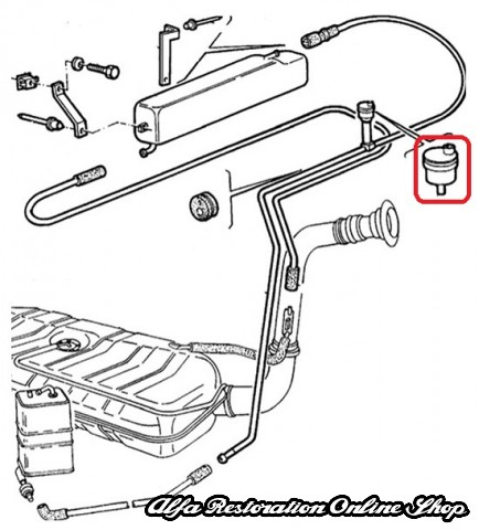 Service manual [1993 Alfa Romeo 164 Change Gas Tank Vent