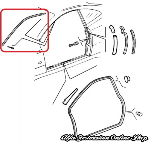 Alfa Spider/GTV Windscreen Metal Trim (Left Side), Alfa