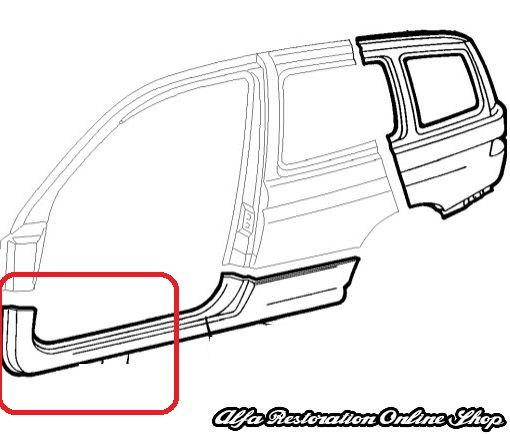 Alfa 145 (1994-2000) Right Outer Sill (front part only