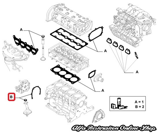 Alfa Romeo MiTo/Giulietta Engine Repair Kit (Lower End