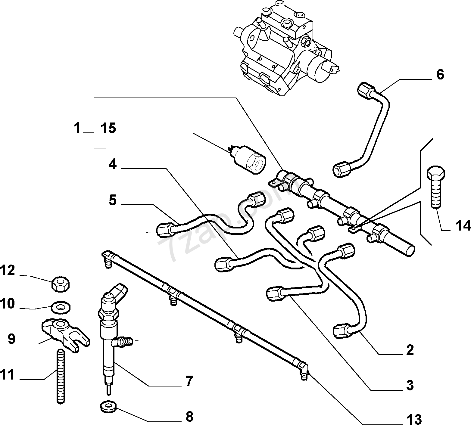 FUEL SUPPLY AND INJECTION ALFA-ROMEO 147 BZ/DS (2000-2010)