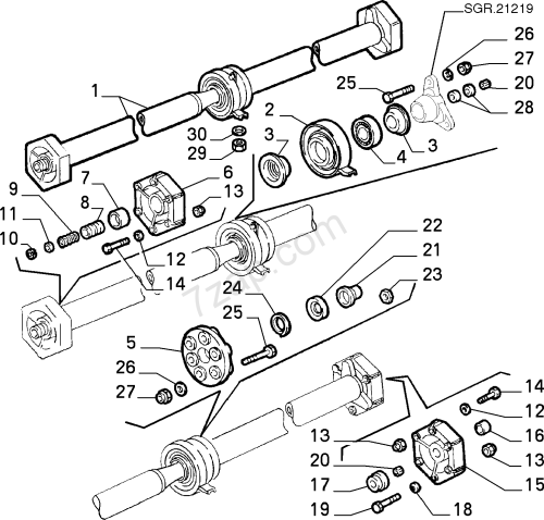 small resolution of transmission to axle propeller shaft alfa romeo s z 1989 1991