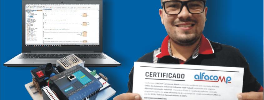 Aluno certificado - Curso de automação