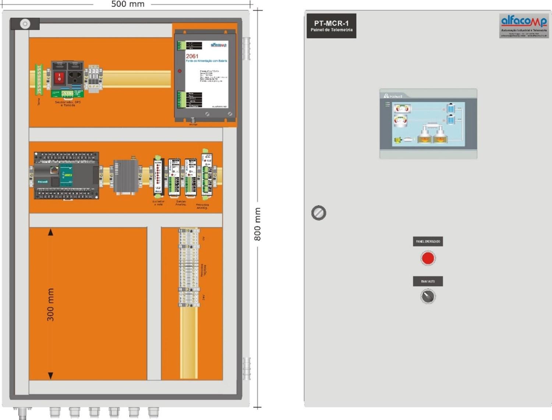 Painel de telemetria PT-MCR-1