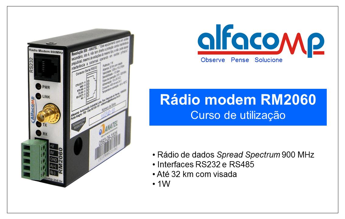 Curso de utilização do rádio modem RM2060