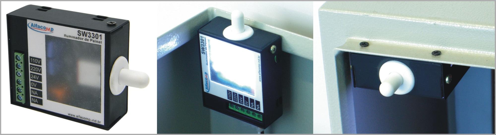 Iluminador a LED para quadro de comando