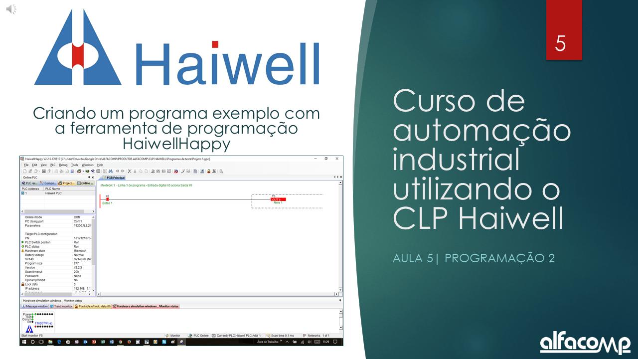 Curso Gratuito de Automação com CLP Haiwell – Aula 4