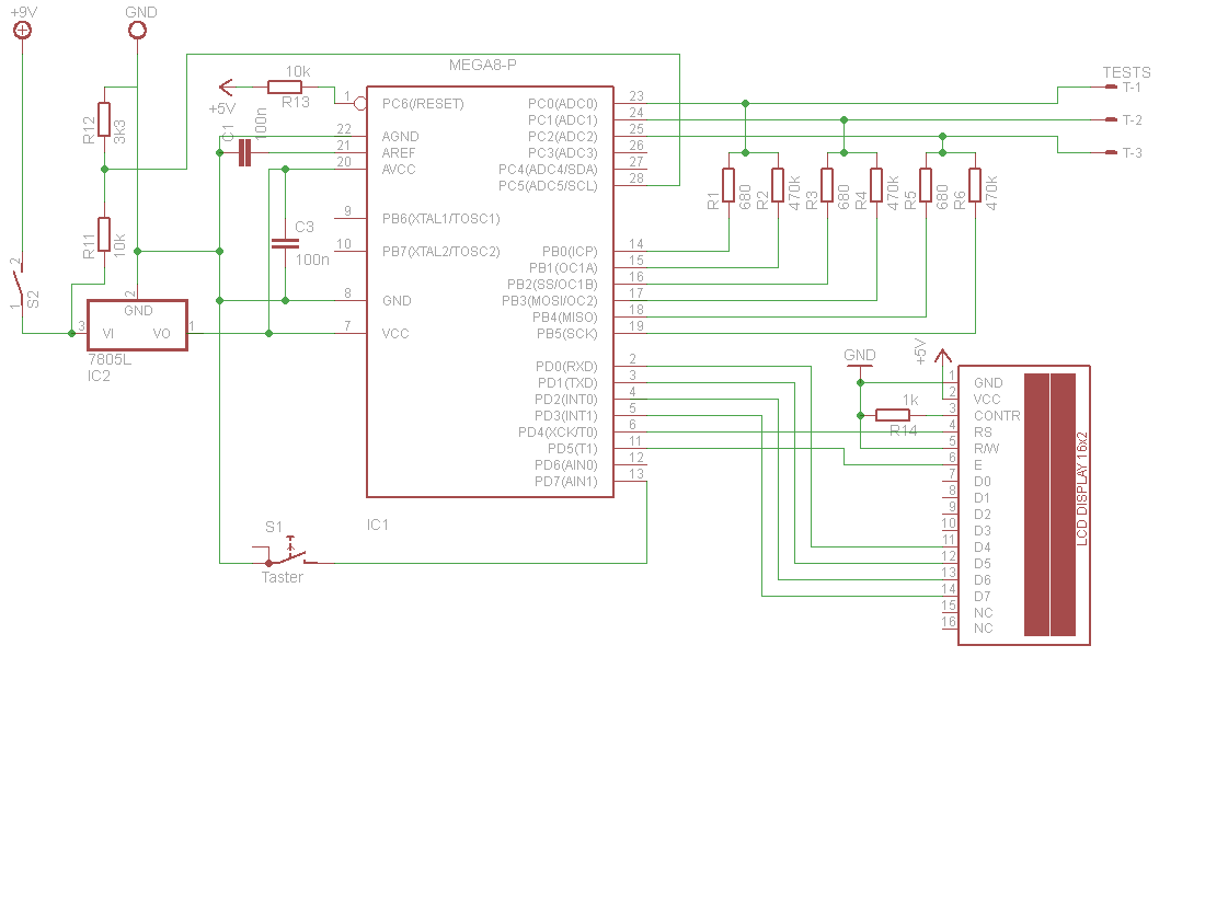 Multimeter For Scrdiodeledmosfet Etc Electronics Led Voltmeter Schematic I Place This Resistor Because Am Going To Use The With A Battery 9v Soi Would Like Reduce Consumption Of Circuit
