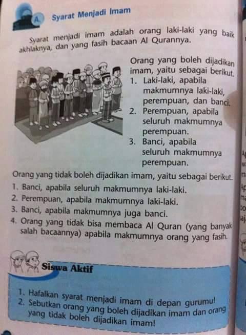 Syarat Sah Imam : syarat, KLARIFIKASI], Banci, Menjadi, Shalat..?, Pribadi, Fadhli