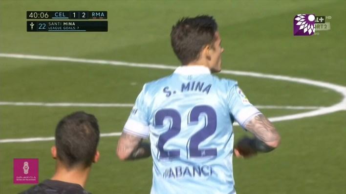 شاهد الهدف الاول (1 – 2) لصالح سيلتا فيغو في شباك ريال مدريد