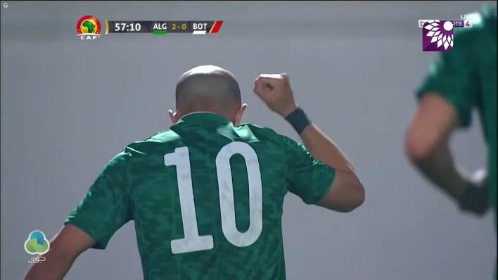 شاهد الهدف الثاني (2 – 0) لصالح الجزائر في شباك بوتسوانا