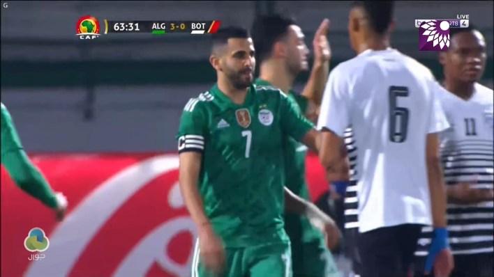 شاهد الهدف الثالث (3 – 0) لصالح الجزائر في شباك بوتسوانا