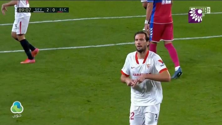 شاهد الهدف الثاني ( 2-0 ) لصالح اشبيلية في شباك إلتشي