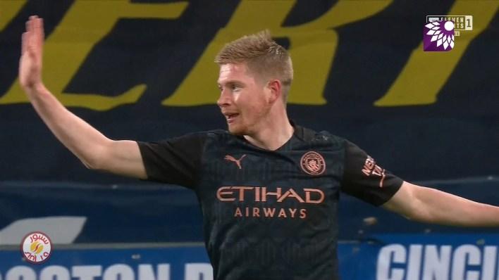 شاهد الهدف الثاني ( 2-0 ) لصالح مانشستر سيتي في شباك ايفرتون