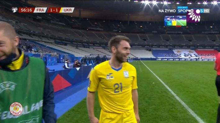 شاهد هدف التعادل ( 1-1 ) لصالح اوكرانيا في شباك فرنسا