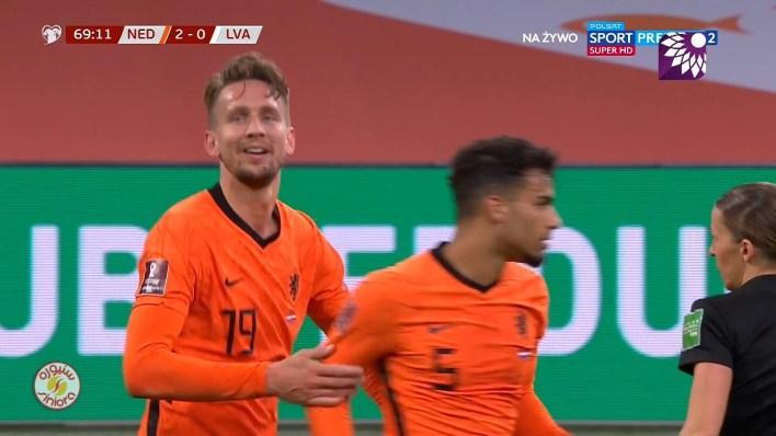 شاهد الهدف الثاني ( 2-0 ) لصالح هولندا في شباك لاتفيا