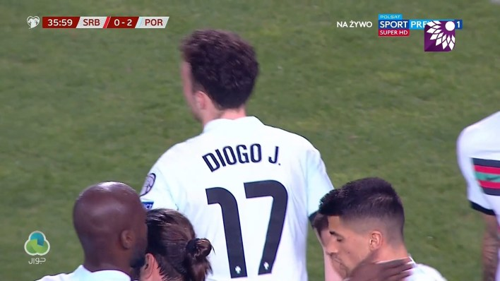 شاهد الهدف الثاني ( 2-0 ) لصالح البرتغال في شباك صربيا