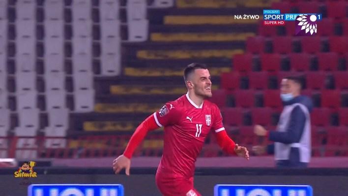 شاهد هدف التعادل الثاني ( 2-2 ) لصالح صربيا في شباك البرتغال